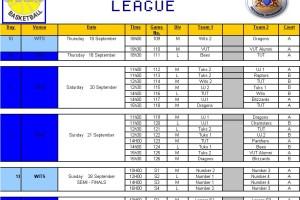 GBL fixtures 17/09/2008