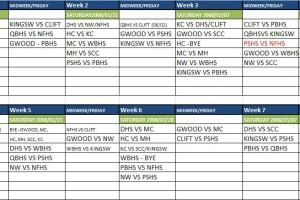 Durban schools fixtures term 1 2009