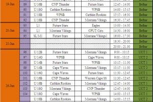 WCBA league fixtures 2010