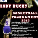 WITS LADY BUCKS TOURNY 2013